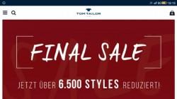 Распродажа в Tom Tailor - финал. И ещё минус 30%.