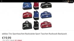 Ebay, adidas Tiro спортивные сумки.